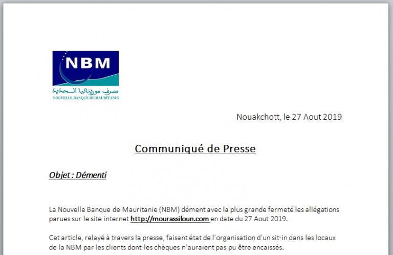 وضع NBM تحت السيطرة ويستمر في التطور في الاتجاه الصحيح.