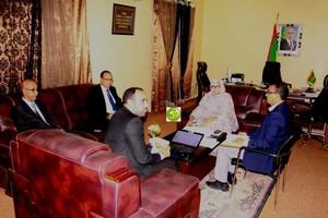 La Ministre de l'Environnement s'entretient avec le Vice-Président Kinross TASIAST